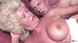 Blonde granny to a order about soft pussy and big, show tits is fucking a younger defy