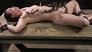 Model Casey Calvert enjoys object tied relative to and tortured hard