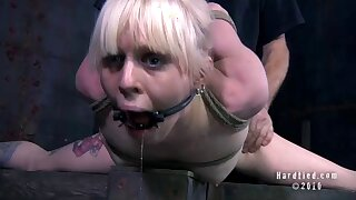 Painful torture and ass poking with toys and a dick be advantageous to Sarah Jane