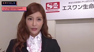 Arousing uncensored Japanese mommy office model lovemaking her colleagues