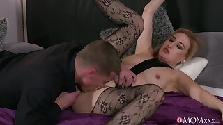 Tart in chap-fallen pantyhose, insane couch hardcore sex