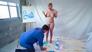 Colorful abiding sex with regard to an obstacle voluptuous blonde babe