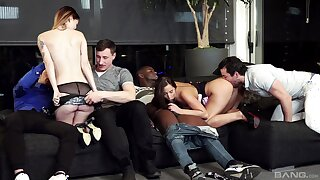 Group sex is great with Amirah Adara and Misha Cross yon get under one's mix