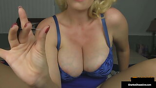 Horny Big Titty Mom Charlee Chase Purple Pounds Her Pussy!