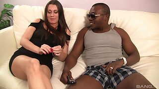 Hot brunette spread out Brooklyn Jade gets fucked wide of a black stud