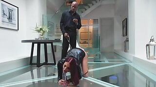 Black Dom has agreeable babe Lyen Parker submitting in full