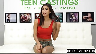 Jade Jantzen deepthroat gagging at rub-down the casting couch