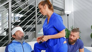 Sophistry wife Alexis Fawx spreads her legs to ride a stud