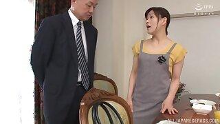 Gorgeous pet Ukita Kaori strips and teases a naughty friend