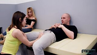 Threesome sex with two arrested girls Valentina Bianco and Chiki Dulce