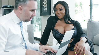 Agent nails huge-chested father after a long time spouse away