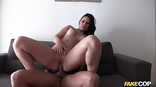 Busty Brit Fucked all over Spain