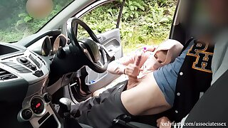 Public Dick Flash Connected with Car. Shy Muslim Girl Connected with Hijab Caught Me Jerking Off Connected with Public And Helped Me Cum