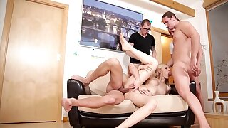 There is unornamented better for this Hungarian blonde than gangbang