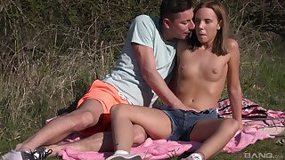 Outdoor foreplay & dicking with stunning Poppy Pleasure - HD