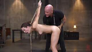 Rough torture in the air deep pussy pounding in dogystyle in the air Jade Nile