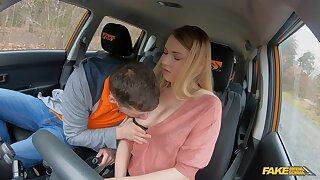 Slutty youngster Lucy Heart screws her doyen driving teacher