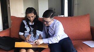 Schoolgirl gets it from you tutor
