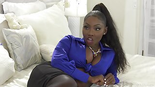 Cock hungry ebony pornstar Osa Bonny fucked by a white monster